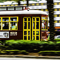 Trolley Car In Motion, New Orleans, Louisiana by Chris Coffee