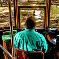 Trolley Driver In New Orleans by Stan Roban