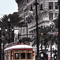 Trolley On Bourbon And Canal  by Tammy Wetzel
