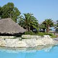 Tropic Bar Vacation Summer Scene by Goce Risteski