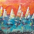 Tropic Sails by Jim Van Romer