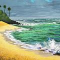 Tropical Beach by Frank Wilson