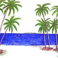 Tropical Beach by Frederic Kohli