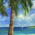 Tropical Beach One by Carolyn Shireman