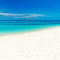 Tropical Beach Panorama by MotHaiBaPhoto Prints