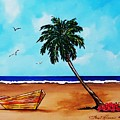 Tropical Beach Scene by Lois    Rivera