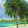 Tropical Beach Two by Carolyn Shireman
