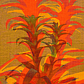 Syncopated Botanicals In Tangerine Orange by Suzanne Powers