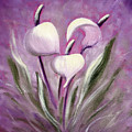 Tropical Flowers In Purple by Gina De Gorna