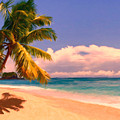 Tropical Island 6 - Painterly by Wingsdomain Art and Photography