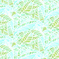 Tropical Lagoon Leaves by Karen Dyson