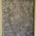 Tropical Palms Canvas Silver - 16x20 Hand Painted by Artistic Mystic