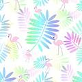 Tropical Pink Flamingos by Kathleen Sartoris