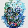 Tropical Skull 2 by Bekim Art
