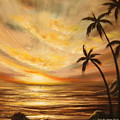 Tropical Sunset 64 by Gina De Gorna
