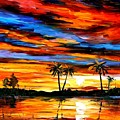 Tropical Sunset by Leonid Afremov