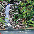 Tropical Waterfall 2 by Luis F Rodriguez