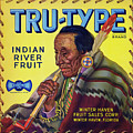 Tru - Type Vintage Fruit Crate Label by Daniel Hagerman