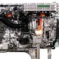 Truck Diesel Engine Isolated On White  by Goce Risteski