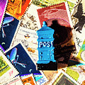 True Blue Postbox by Jorgo Photography - Wall Art Gallery