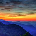 Majestic Blue Ridges Pretty Place Chapel Sunrise Great Smoky Mountains Art by Reid Callaway