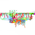 Trumpet Painted Digital Art by Les McLuckie