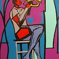 Trumpet Player II by Angelo Thomas