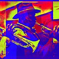 Trumpet Player Pop-art by Tatiana Travelways