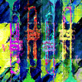 Trumpets Abstract by David G Paul