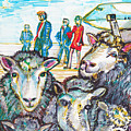 Trump,sheep And Dolly Clone by Susan Brown    Slizys art signature name