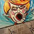 Trumpty Dumpty Falling Off His Imaginary Wall by Catherine Gruetzke-Blais