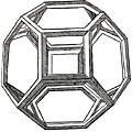 Truncated Octahedron With Open Faces by Leonardo Da Vinci