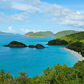 Trunk Bay Beach St. John by Julia Rigler