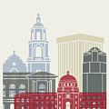 Tucson Skyline Poster by Pablo Romero