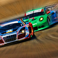 Tudor Audi R8 Races Porsche 911rsr United Sportcar Championship by Blake Richards