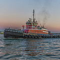 Tugboat Buckley Mcallister At Sunset by Brian MacLean