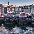 Tugboats In The Harbor by Heather Applegate