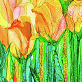 Tulip Bloomies 4 - Yellow by Carol Cavalaris