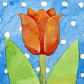 Tulip Blue White Spot Background by Jennifer Abbot