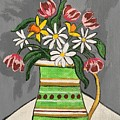 Tulips And Daisies by Lindsay Smith