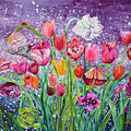 Tulips Are Magic In The Night by Ashleigh Dyan Bayer