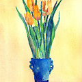 Tulips In A Vase by Arline Wagner