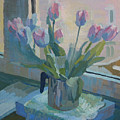 Tulips On A Window  by Lena Krasotina