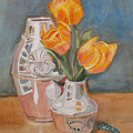 Tulips Jade And Books by Jenny Armitage