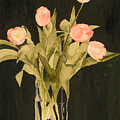 Tulips On Velvet by Louise Magno