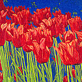 Tulips Tulip Flowers Fine Art Print Giclee High Quality Exceptional Color Garden Nature Botanical by Baslee Troutman