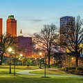 Tulsa Night City Skyline - Centennial Park Cityscape by Gregory Ballos