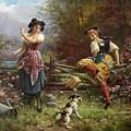 Tumbling Apples Hans Zatzka by Eloisa Mannion