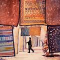 Tunisian Rug Vendor by Ryan Fox