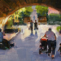 Tunnel In Central Park by Merle Keller